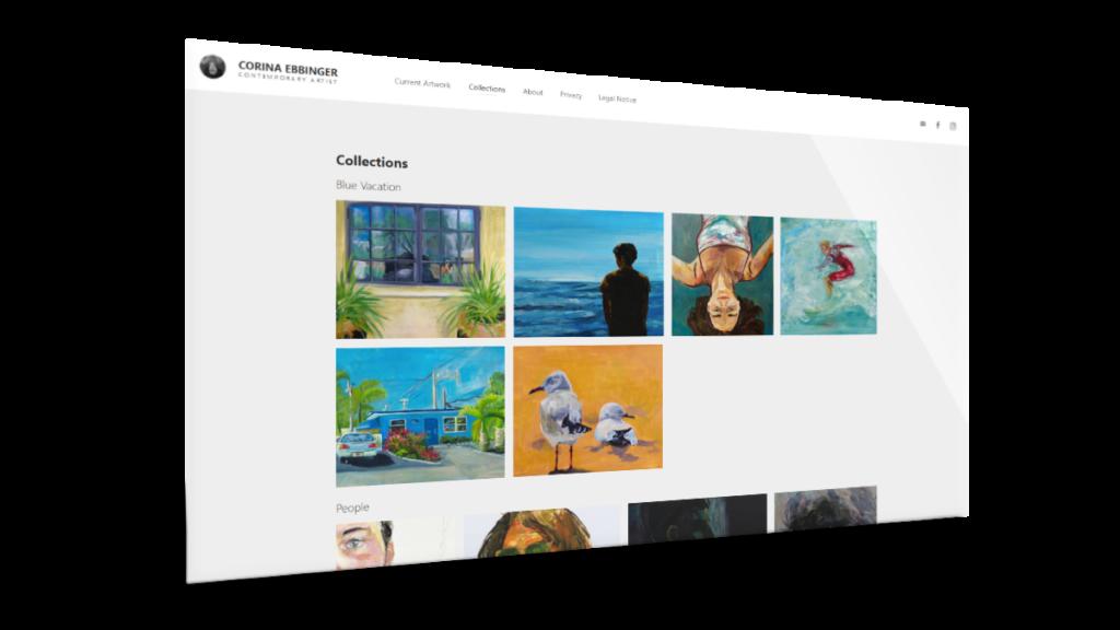Webdesign für Kunstportfolio