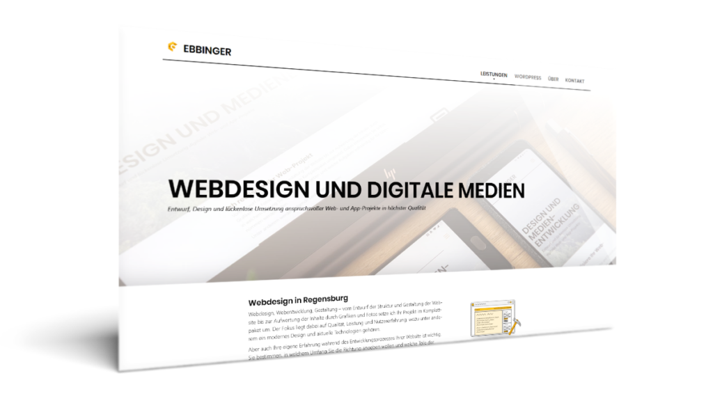 Firmenhomepage Webdesign