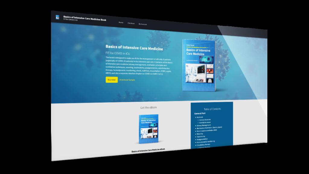 Webdesign-Referenz für Buchshop